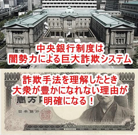 資本主義とは民衆奴隷支配には欠かせない富収奪システムである!おカネ(マネー)の出発点を知ればそれが分かる!中央銀行制度には巧妙に隠されたとんでもない欺瞞がある!