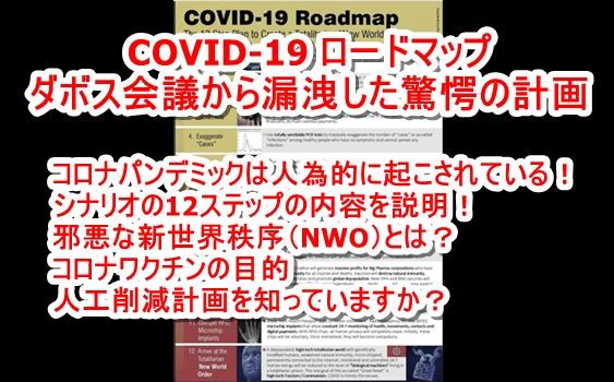 【COVID-19 ロードマップ】新型コロナウイルスを信じている人は必見です! コロナウイルス騒動はNWO実現へのロードマップであることが判明! シナリオが存在していた! ダボス会議から漏洩した驚愕の人類支配内容とは!?